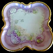Limoges J.P. Violets Tray