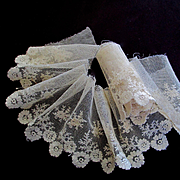 Lovely Net Lace Flowers Flounce For Doll Dress Trim