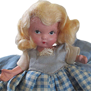 Judy Ann Pudgy Tummy 1938 Story Book Bisque Doll USA