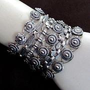 Fabulous Modernist Napier 7 Strand Statement Bracelet