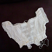 Victorian Baby Gown Top For Repurpose For Doll Gown