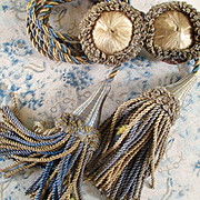 Victorian Silk Rosette Tie Backs With Tassels