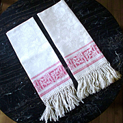 Prettiest Damask Towels PINK Borders