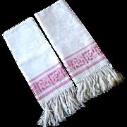 Prettiest Damask Towels PINK Borders