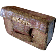 Tiny Miniature Engraved Leather Box For Document Box Dollhouse