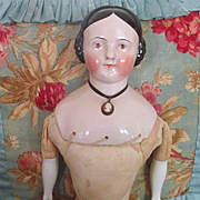 "China Doll Pink Tint 23"" Cameo Covered Wagon Hair Style"