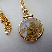 22K Gold Nuggets Gold Filled Pendant With Chain