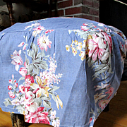 1930's Set Floral Foot Stool Covers