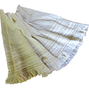 Lovely Antique Petticoat Remnant Flounce For Doll's Dress