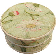 Tiny Antique Floral Paper Powder Box Advertising Germany