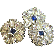 Set 3 Huge Victorian Gay 90's Rhinestone Buttons
