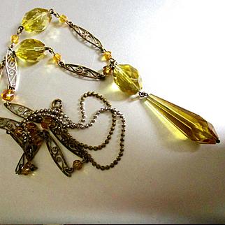 Citrine Amber Glass Beads Sautoire