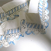 Blue White Trim For Doll Dress