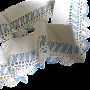 Blue White Trim For Doll Dress