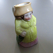 German Miniature Toby Miniature Lady With Umbrella