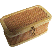 Small Doll Sized Grass Sewing Basket