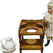 Vintage Wood Dollhouse Wash Stand