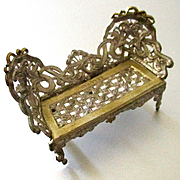 Antique Soft Metal Settee For Dollhouse Marked Germany