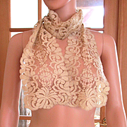 Deco Silk Lace Net Long Scarf