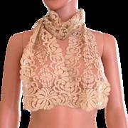Deco Silk Lace Net Long Scarf