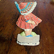 Hurley #72 Cast Iron Sunbonnet Sue Doorstop Great Colors