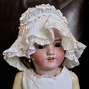 Gorgeous Edwardian/Deco Lace Ribbon Art Baby/Doll Bonnet