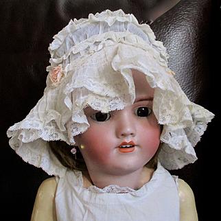 Gorgeous Edwardian/Deco Lace Ribbon Art Baby/Doll Bonnet