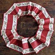 Victorian Silk Wide Christmas Ribbon Mistletoe