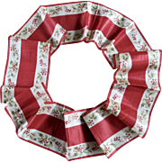 Victorian Silk Wide Christmas Ribbon Mistletoe
