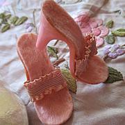Premier Glamour Footwear 1950's Pink Heels Original Box NYC