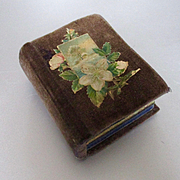 Miniature Decorative Victorian Etui Velvet Box
