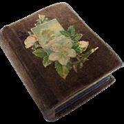 Miniature German Velvet Sewing  Box Book Die Cuts Lithos - Red Tag Sale Item