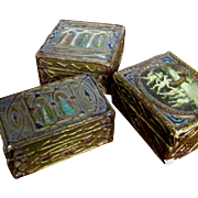 Three  1920's Florentine Gilt Wooden Decorative Boxes For Christmas