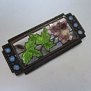 Terrific Arts Crafts Enamel on Copper Poppies