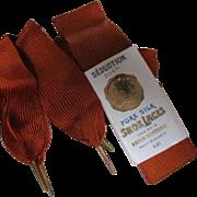 Edwardian New Old Stock French Silk Shoelaces Aglets Paris Au Printemps