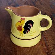 Vintage 70's Stangl Rooster Pitcher Creamer