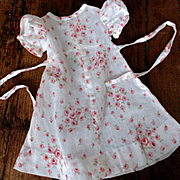 Darling Tissue Linen Roses Doll Dress