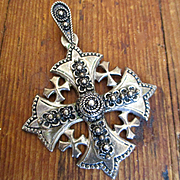 Large Sterling Jerusalem Cross