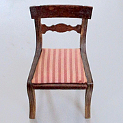 FAO Schwarz Upholstered Striped Regency Dollhouse Chair