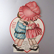 Sweetest Sunbonnet Girl Mechanical Card Signed Evelyn Von Hartman