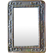 Small Decorative Repousse Beaded Dollhouse Mirror