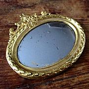 Erhard & Sohne Dollhouse Ormolu Miniature Mirror
