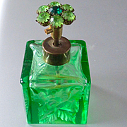 W. Germany Irice  Cut Crystal Jeweled Perfume Bottle Presto/Bulbless