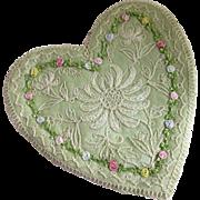 Art Deco Ribbon Art  Net Lace Heart For Bridal Accessories