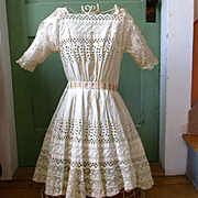Girl's Lace Embroidered Victorian/Edwardian Dress Amazing Condition