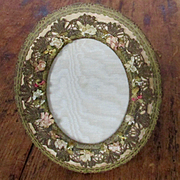Edwardian French Silk Passementiere Frame Silk Mat