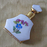 Miniature Perfume Bottle Porcelain Hand Painted Germany