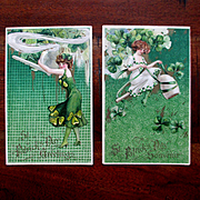 Set 2 Beautiful Gibson Girls St Paddy's Day Unused Cards