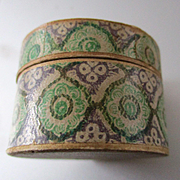Darling 19C Paper Covered Apothecary Box With Tiny Hat For Hat Box