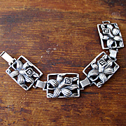 Dane Craft Felch Sterling Orchid Bracelet